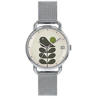 Orla Kiely | Ladies Avery Stem | Sølv Mesh stroppen OK4081 Watch