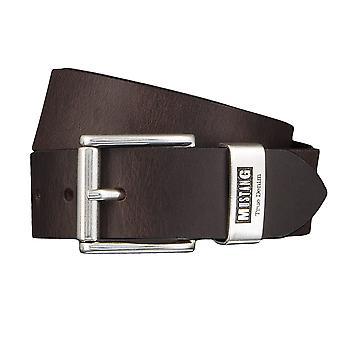 MUSTANG belts men's belts leather jeans belt Brown 4344