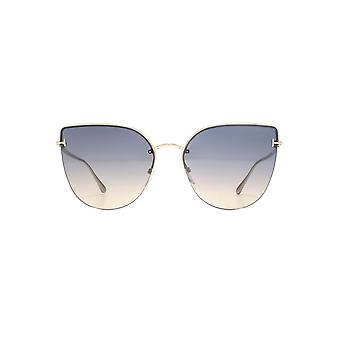 Tom Ford Ingrid 02 Sunglasses In Shiny Rose Gold Grey