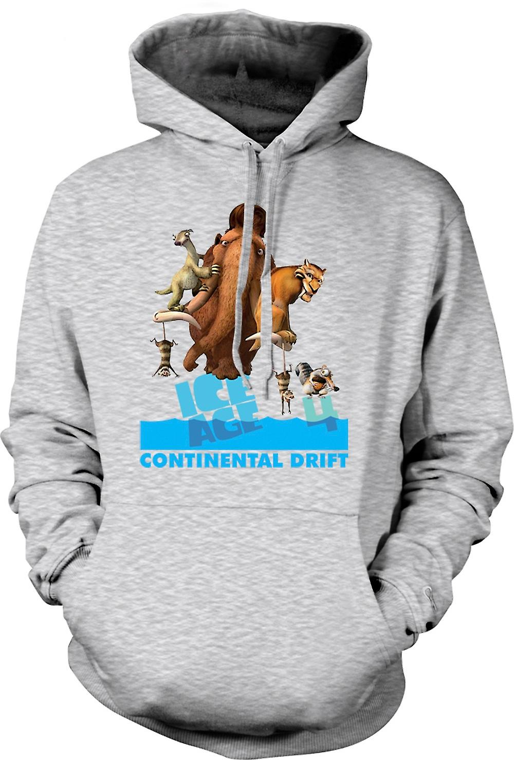 Mens Hoodie - Ice Age - Continental Drift