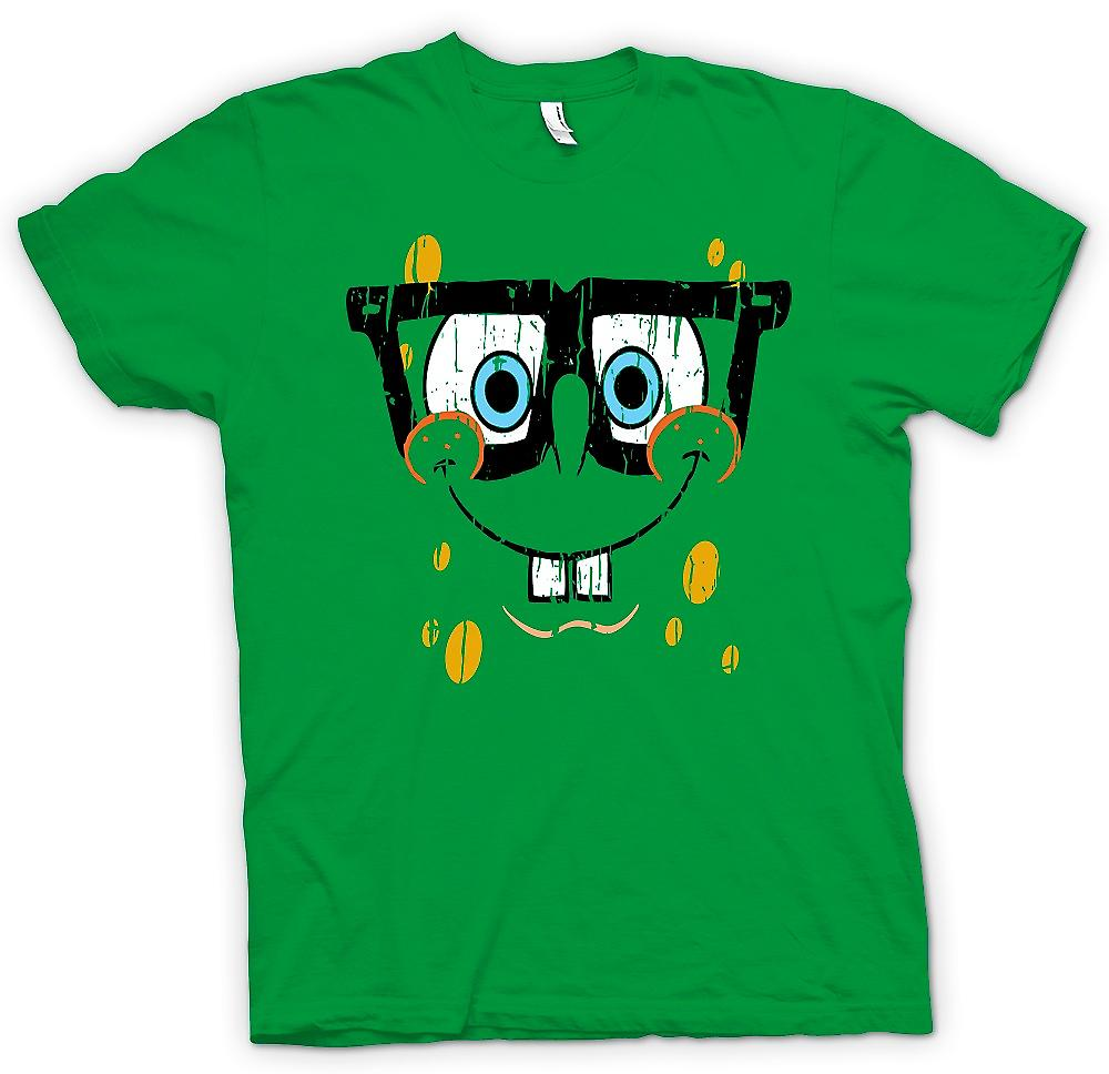 Mens T-shirt - Sponge Bob Square Pants Cool Face