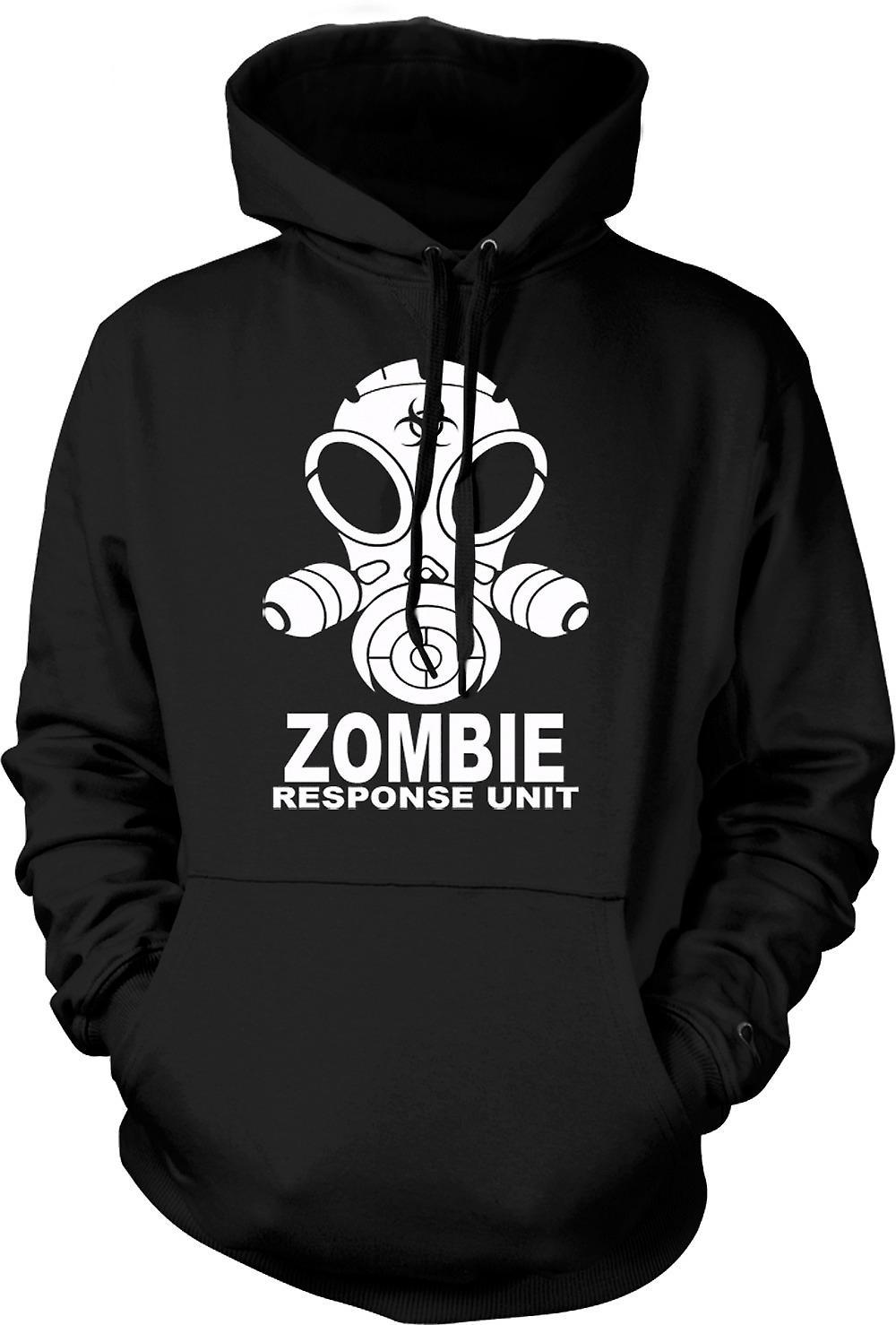 Mens Hoodie - Zombie Response Unit - Gasmask
