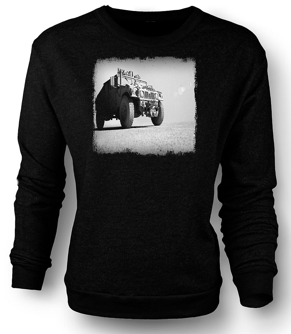 Mens Sweatshirt US Army Humvee - Desert Warrior