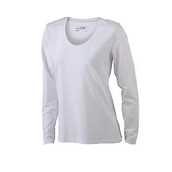 James and Nicholson Womens/Ladies Stretch Long Sleeve T-Shirt