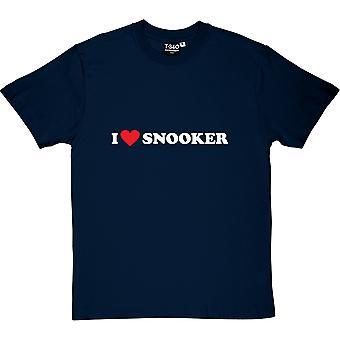 Eu amo t-shirt dos homens de Snooker