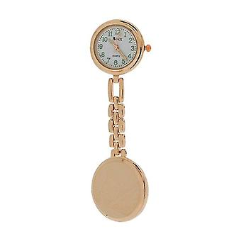 Boxx Unisex Analogue Dial Rose Goldtone Links Chain Nurses Fob Watch Boxx384