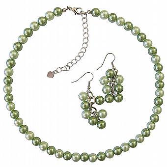 Honeydew & gröna bröllop smycken som prisvärda Halsband Örhängen Set
