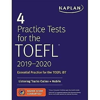 4 Practice Tests for the TOEFL 2019-2020: Listening Tracks Online + Mobile (Kaplan Test Prep)