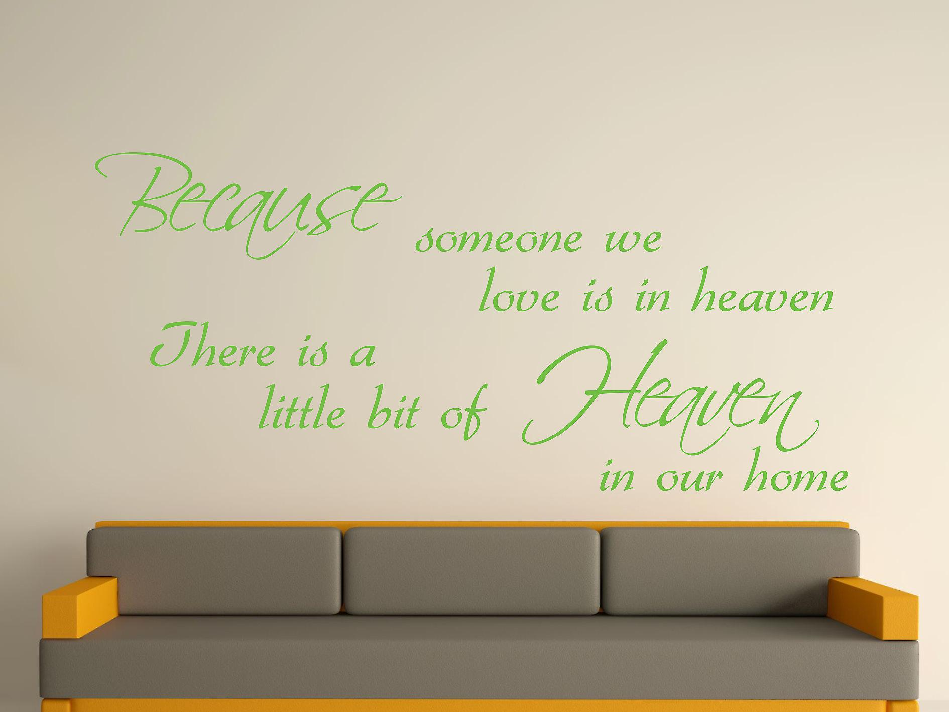 Because Someone Wall Art Sticker - Apple Green