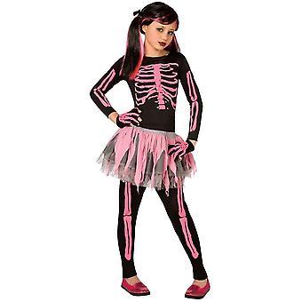 Rosa Skelett Kinderkostüm