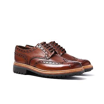 Grenson Archie Dark Tan Leather Brogues