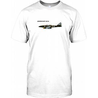 Messerchimitt ME262 - Luftwaffe Fighter Aircraft Mens T Shirt