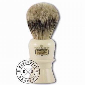 Simpsons B6 Beaufort Pure Badger Capelli Pennello da barba in imitazione avorio