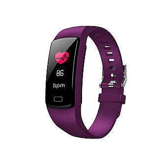 Y9 Activity bracelet with 0.96 inch color monitor-Purple