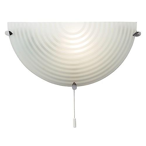 Endon 633-WB Modern Etched Glass Switched Wall Light With Chrome Detail