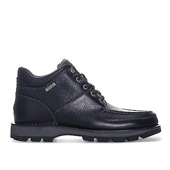 Mens Rockport Umbwe Ii Chukka Boots In Black- Lace Fastening- Padded Tongue And