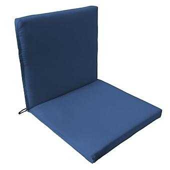 Gardenista® Blue Water Resistant Two Part Chair Seat Pad