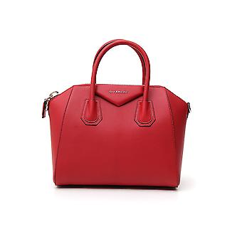 Givenchy Antigona Small Red Leather Handbag
