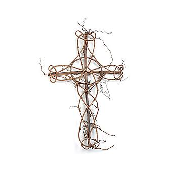 Natural Grapevine Cross for Easter or Christmas Crafts - 19in x 12in