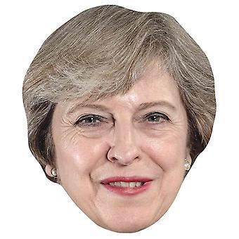 Theresa May Single 2D Card Party Face Mask