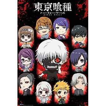 Tokyo Ghoul chibi znaków plakat Maxi 61x91.5cm
