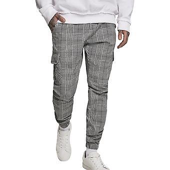 Urban Classics - Glencheck Cargo Jogger Pants Grey