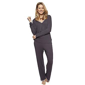 Cyberjammies 1328 Women's Nora Rose Nancy Grey Modal Pyjama Set