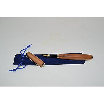 Wood Fueller Fuellspring Pen Apple Wood en bois stylo fontaine cadeau cadeau fait à la main idée unique bouchon plug