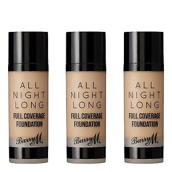 Barry M 3 X Barry M All Night Long Full Coverage Foundation - Cookie