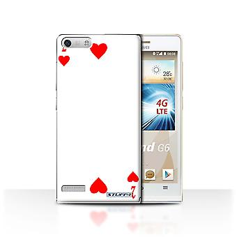 STUFF4 Case/Cover for Huawei Ascend G6 4G/2 of Hearts/Playing Cards