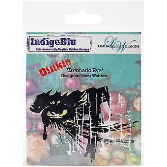 IndigoBlu Cling Mounted Stamp-Dramatic Eye - Dinkie IND0144