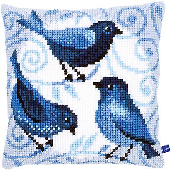 Blue Birds Cushion Cross Stitch Kit-15.75