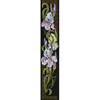 Irises Counted Cross Stitch Kit 7.75