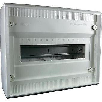 Switchboard cabinet Surface-mount No. of partitions = 12 No. of rows = 1 Hager VA12CN
