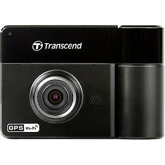 Dashcam with GPS Transcend Horizontal viewing angle=130 ° 12 V, 24 V Twin cam, Microphone, Battery, Display