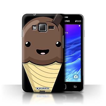 STUFF4 Case/Cover for Samsung Z1/Z130/Chocolate Ice Cream/Kawaii Food
