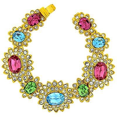 Kenneth Jay Lane Crystal Large Multi Pastel Stones Bracelet