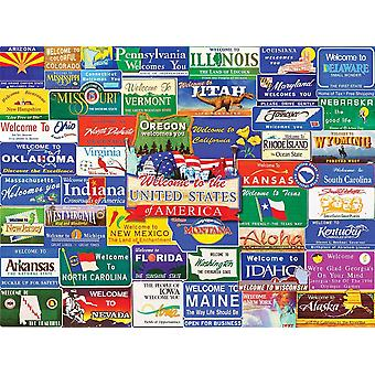 Welcome To America 1000 piece jigsaw puzzle 760mm x 610mm  (wmp)