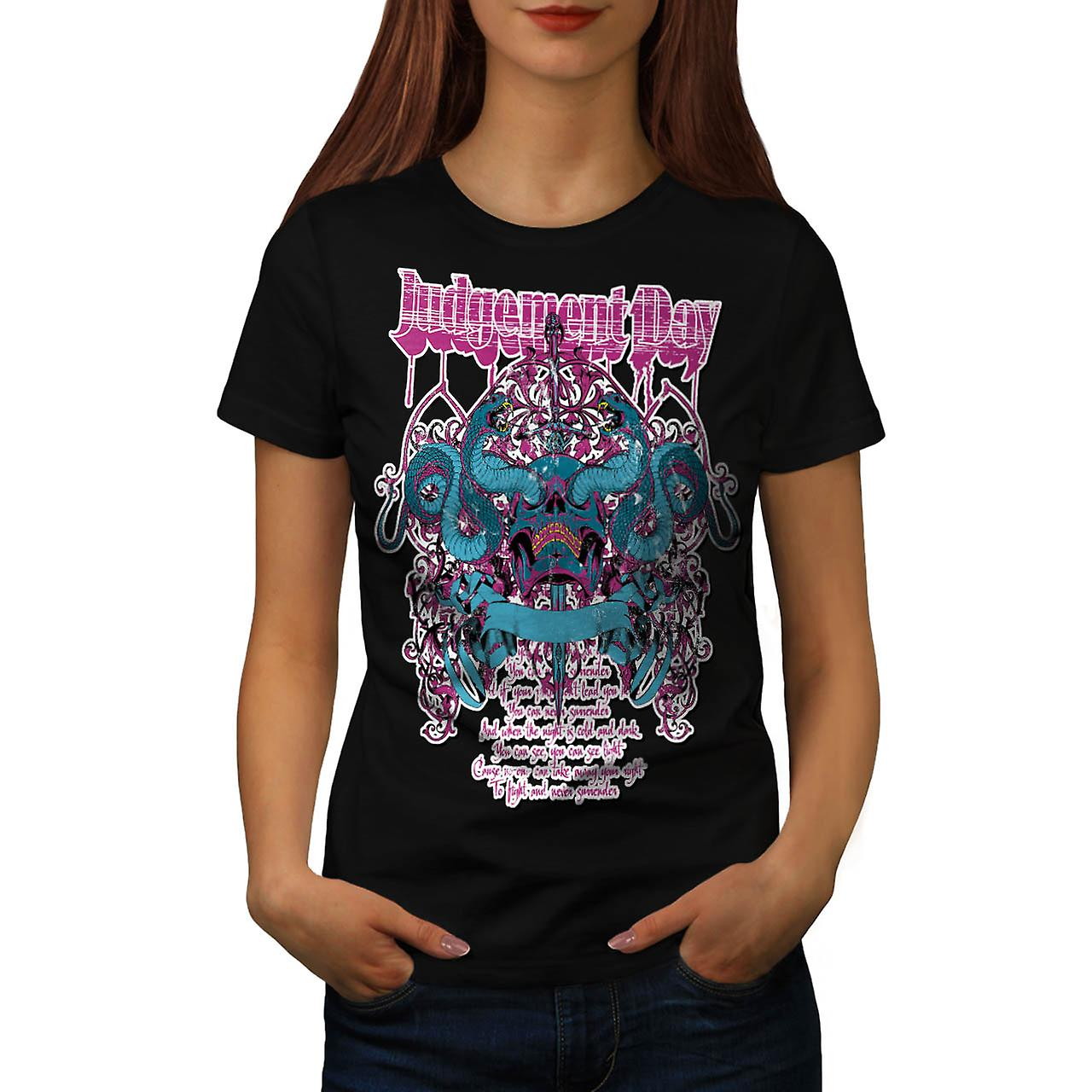 Judgement Day Dead Horror Women Black T-shirt | Wellcoda
