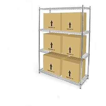 4 Tier Chrome Wire Heavy Duty Shelving Kit, H:1500mm x W:600mm