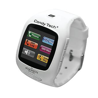 Candy Tech by Madison N.Y. Armbanduhr Telefon Uhr CT-03 weiss