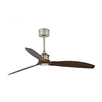 Faro energy-saving ceiling fan Just Fan brass with remote control