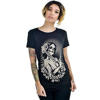 Too Fast Bandita Womens Slashback Tshirt Black Guns Day Of The Dead