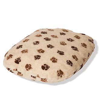 Fleece Paw Beige/brown Fibre Bed Size 3 76x122cm