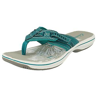 Ladies Clarks Sporty Toe Post Sandals Breeze Sky