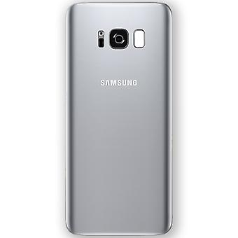 Samsung GH82-13962B battery cover cover for Galaxy S8 G950 G950F + adhesive pad silver