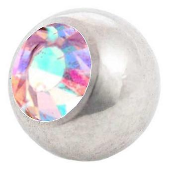 Piercing Replacement Ball, Aurora Borealis | 1,6 x 4, 5 and 6 mm, Body Jewellery