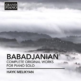 Babadjanian - Babadjanian: Komplet originale værker for klaver Sol [CD] USA import