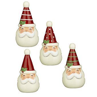 Веселый Деды Морозы веселого соль и перец шейкеры наборы две пары