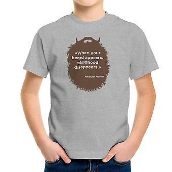 Koszulka dziecięca dzieciństwa kolekcji broda